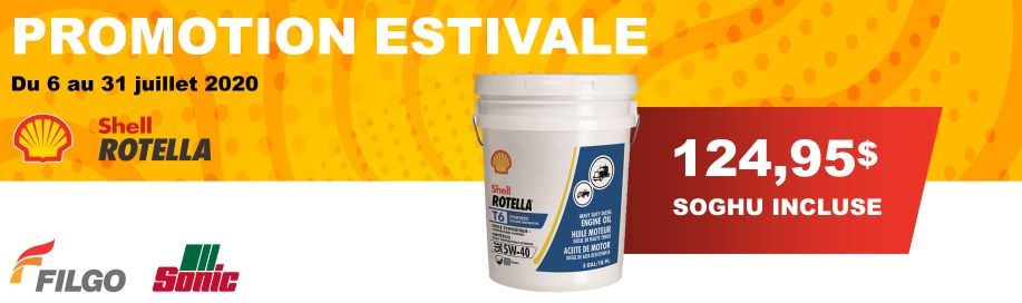 Promotion lubrifiants Shell Rotella T6 - Juillet 2020