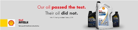 Our oil passed the test. Their oil did not.